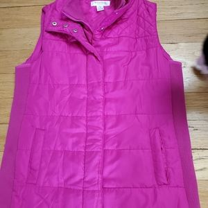 Cozy Pink Maternity Vest Size Small